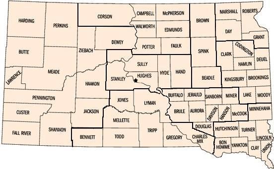 county map south dakota Sd Counties South Dakota Association Of County Officials county map south dakota